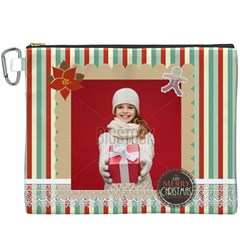 Merry Christmas By Xmas   Canvas Cosmetic Bag (xxxl)   9a79ynhitn9a   Www Artscow Com Front