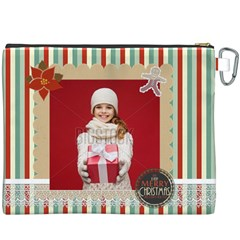 Merry Christmas By Xmas   Canvas Cosmetic Bag (xxxl)   9a79ynhitn9a   Www Artscow Com Back