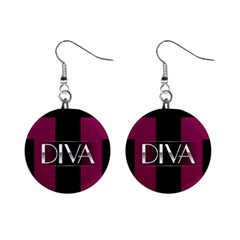Pink Diva  Mini Button Earrings by OCDesignss