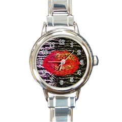 Abstract Lips  Round Italian Charm Watch by OCDesignss