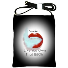 Smoke It Blk&white Lips  Shoulder Sling Bag by OCDesignss