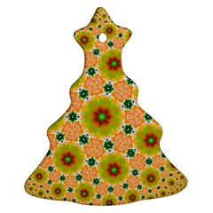 Yellow Flower Rosette Christmas Tree Ornament (two Sides) by rosetteornaments