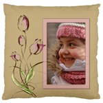 Pink Tulip Standard Flano Cushion Case - Standard Flano Cushion Case (One Side)
