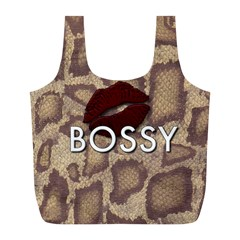 Bossy Snake Texture  Reusable Bag (l) by OCDesignss