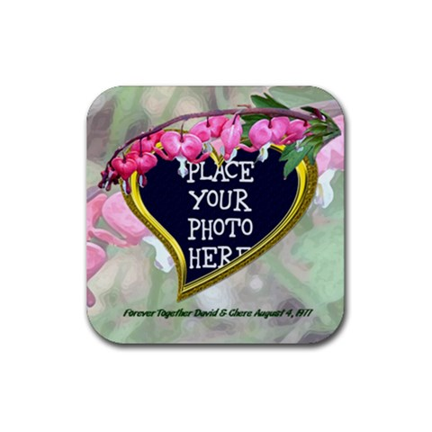 Bleeding Heart Rubber Coaster Square By Chere s Creations   Rubber Coaster (square)   Jd0zg3l1w2yr   Www Artscow Com Front