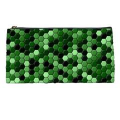 Green Tiles Pencil Case