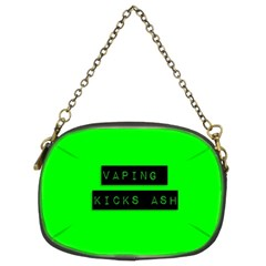 Vaping Kicks Ash Florescent  Chain Purse (two Sided)  by OCDesignss