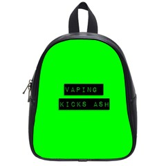 Vaping Kicks Ash Florescent  School Bag (small) by OCDesignss