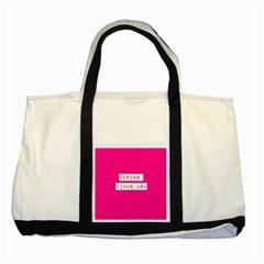 Vaping Kicks Ash Pink  Two Toned Tote Bag by OCDesignss