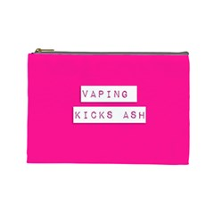 Vaping Kicks Ash Pink  Cosmetic Bag (large) by OCDesignss