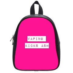 Vaping Kicks Ash Pink  School Bag (small) by OCDesignss