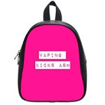 Vaping Kicks Ash Pink  School Bag (Small) Front