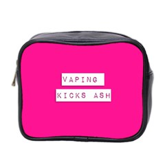 Vaping Kicks Ash Pink  Mini Travel Toiletry Bag (two Sides) by OCDesignss