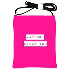 Vaping Kicks Ash Pink  Shoulder Sling Bag by OCDesignss