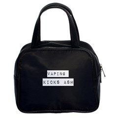 Vaping Kicks Ash Blk&wht  Classic Handbag (two Sides) by OCDesignss