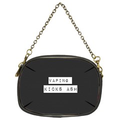 Vaping Kicks Ash Blk&wht  Chain Purse (two Sided)  by OCDesignss