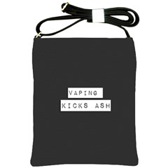 Vaping Kicks Ash Blk&wht  Shoulder Sling Bag by OCDesignss