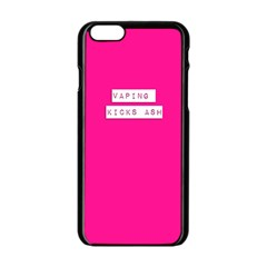Vaping Kicks Ash Pink Apple Iphone 6 Black Enamel Case by OCDesignss
