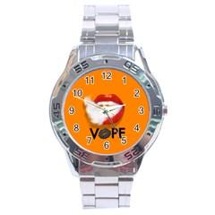 Lips Vape Smoke  Stainless Steel Watch by OCDesignss