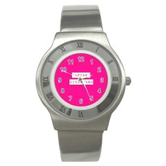 Vaping Kicks Ash Pink  Stainless Steel Watch (slim) by OCDesignss