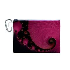 Beautiful Fractal  Canvas Cosmetic Bag (medium)