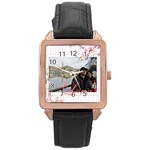 bw1 - Rose Gold Leather Watch