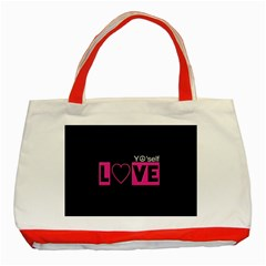 Love Yo self  Classic Tote Bag (red) by OCDesignss