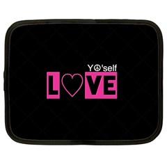 Love Yo self  Netbook Sleeve (large) by OCDesignss
