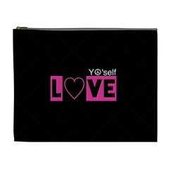 Love Yo self  Cosmetic Bag (xl) by OCDesignss