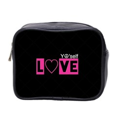 Love Yo self  Mini Travel Toiletry Bag (two Sides) by OCDesignss