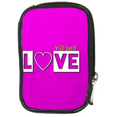 Love Yo self  Compact Camera Leather Case by OCDesignss