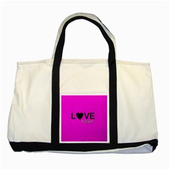 Love Yo self  Two Toned Tote Bag by OCDesignss