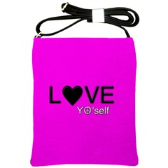 Love Yo self  Shoulder Sling Bag by OCDesignss