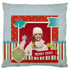 Xmas By Xmas   Large Flano Cushion Case (two Sides)   7nuf9keimn4g   Www Artscow Com Front