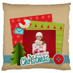 Xmas By Xmas   Large Flano Cushion Case (two Sides)   F6ua3x0am9ka   Www Artscow Com Front