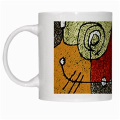 Multicolored Abstract Tribal Print White Coffee Mug by dflcprints
