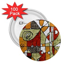 Multicolored Abstract Tribal Print 2.25  Button (100 pack) by dflcprints
