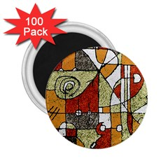 Multicolored Abstract Tribal Print 2 25  Button Magnet (100 Pack) by dflcprints
