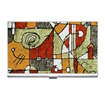 Multicolored Abstract Tribal Print Business Card Holder Front