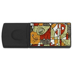 Multicolored Abstract Tribal Print 1GB USB Flash Drive (Rectangle) by dflcprints