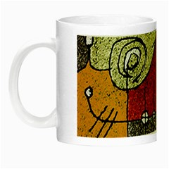 Multicolored Abstract Tribal Print Glow In The Dark Mug by dflcprints