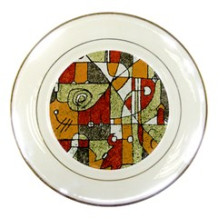 Multicolored Abstract Tribal Print Porcelain Display Plate by dflcprints