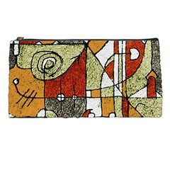 Multicolored Abstract Tribal Print Pencil Case by dflcprints