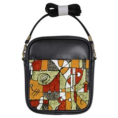 Multicolored Abstract Tribal Print Girl s Sling Bag by dflcprints