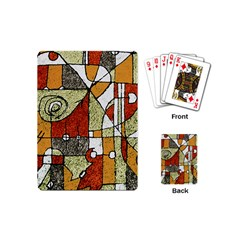 Multicolored Abstract Tribal Print Playing Cards (mini) by dflcprints