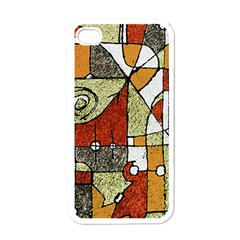 Multicolored Abstract Tribal Print Apple Iphone 4 Case (white) by dflcprints