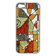 Multicolored Abstract Tribal Print Apple Iphone 5 Case (silver) by dflcprints