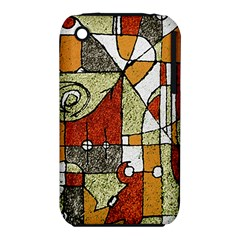 Multicolored Abstract Tribal Print Apple Iphone 3g/3gs Hardshell Case (pc+silicone) by dflcprints