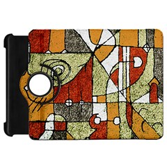 Multicolored Abstract Tribal Print Kindle Fire Hd Flip 360 Case by dflcprints