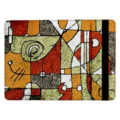Multicolored Abstract Tribal Print Samsung Galaxy Tab Pro 12 2  Flip Case by dflcprints